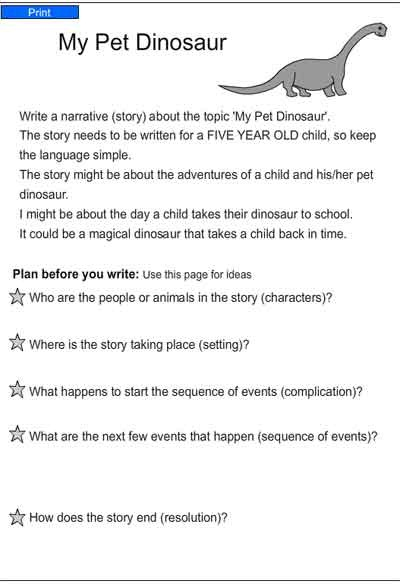 topics for children to write about