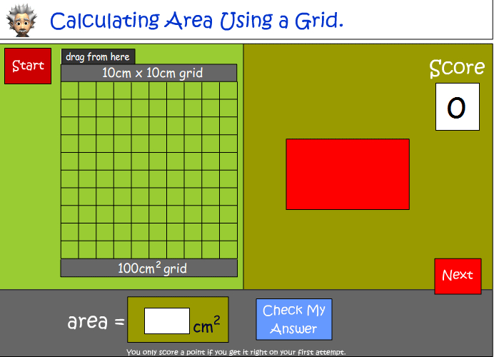 Calculating area using a grid