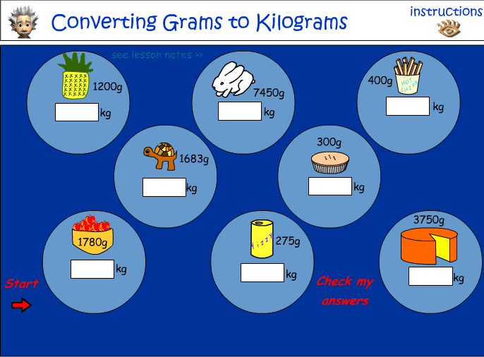Converting grams to kilograms