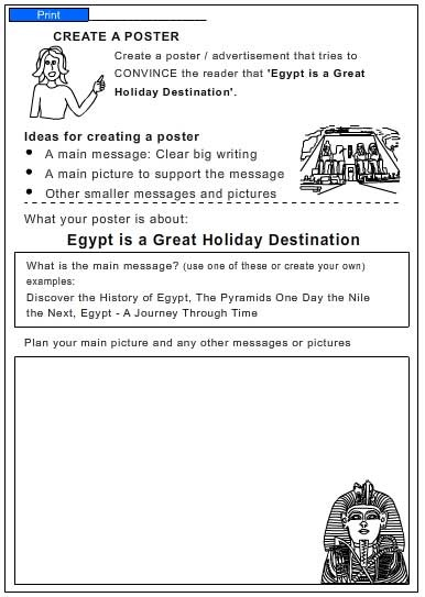 travel brochure for egypt english skills online interactive activity lessons