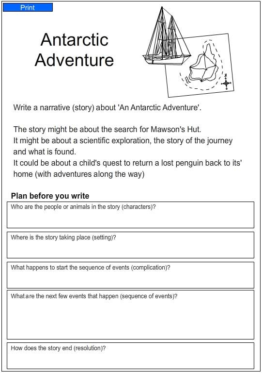 antarctic adventure  english skills online  interactive activity lessons