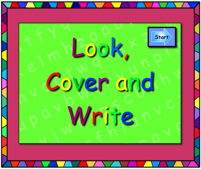 ow and oe -Look Cover Write