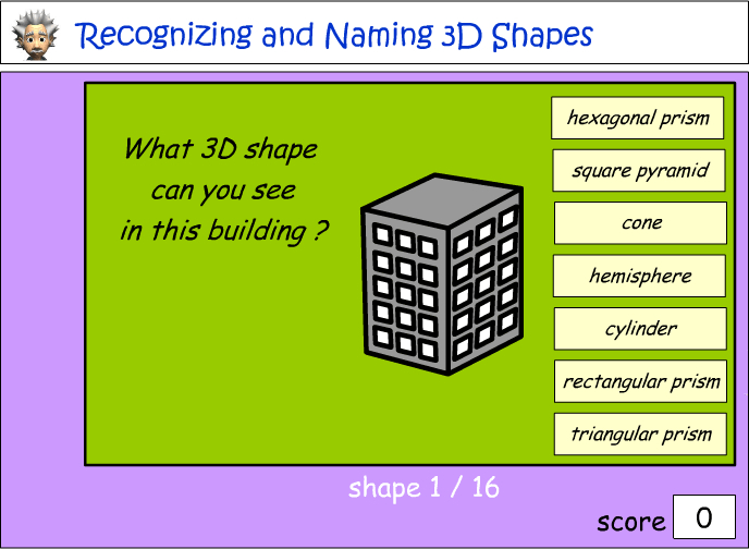 Naming 3D objects
