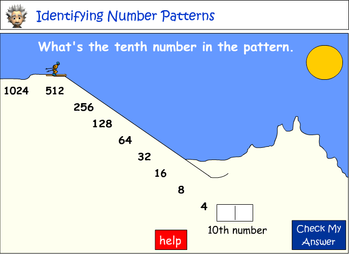 Identifying the 10th number in a pattern