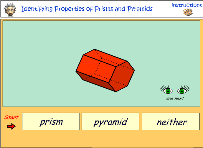Identifying the properties of prisms and pyramids