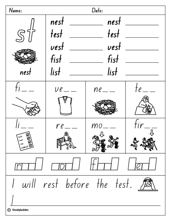 consonant blends st worksheets two letter blends aussie childcare networkconsonant lesson plan. Black Bedroom Furniture Sets. Home Design Ideas